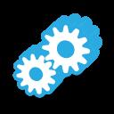 Blue bulb icon