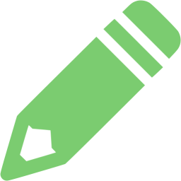 pencil icon green