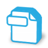 Blue documents icon